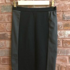 Laurie Solet Two Toned Cotton Pencil Skirt